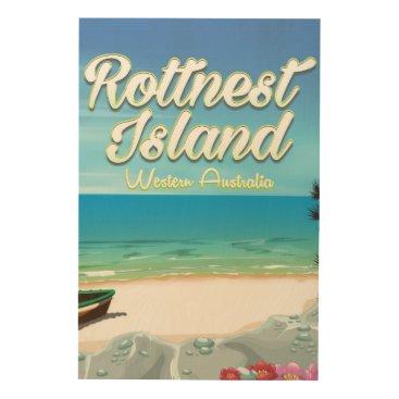 Beach Themed Rottnest Island Australia ocean travel poster