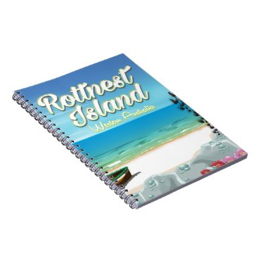 Beach Themed Rottnest Island Australia ocean travel poster Notebook