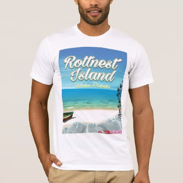 Beach Themed Rottnest Island Australia ocean travel poster T-Shirt