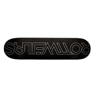 Rottweilas - Black/White Skateboard