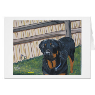 Rottweiler 4 notecard