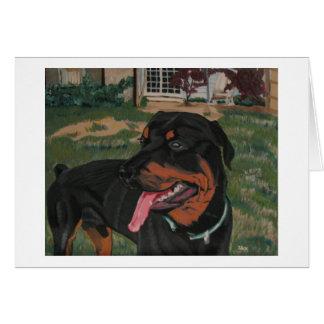 Rottweiler 6 notecard