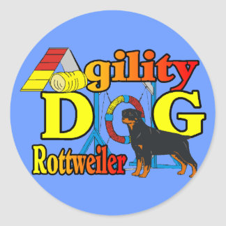 Rottweiler Agility Gifts Classic Round Sticker