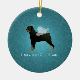Rottweiler Angel - Pet Memorial Design Ceramic Ornament