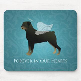 Rottweiler Angel - Pet Memorial Design Mouse Pad