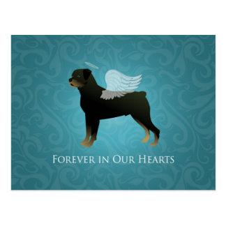 Rottweiler Angel - Pet Memorial Design Postcard