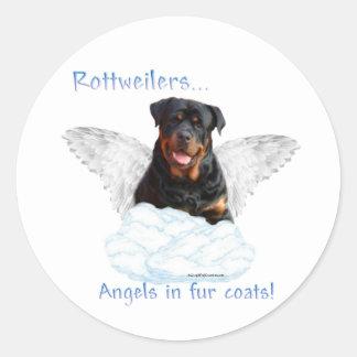 Rottweiler Angel Sticker