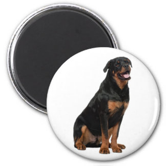 Rottweiler Black And Brown Puppy Dog Magnet