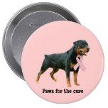 Rottweiler  Breast Cancer Button
