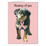 Rottweiler Breast Cancer Greeting Card