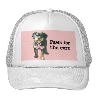 Rottweiler Breast Cancer Hat