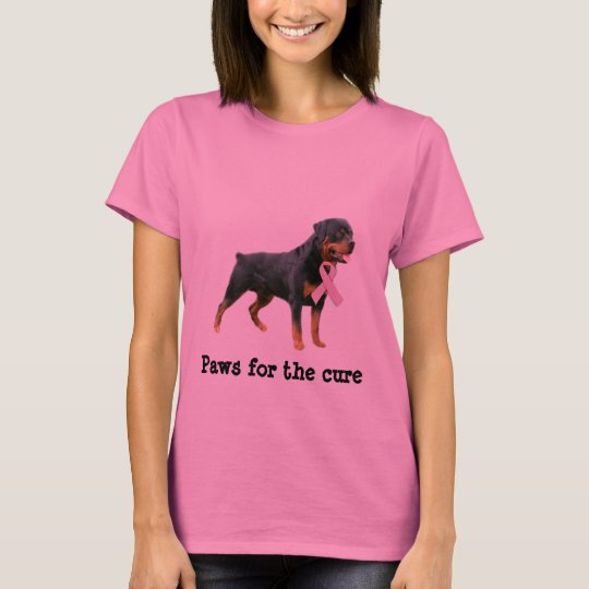 Rottweiler Breast Cancer Ladies Shirt