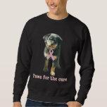 Rottweiler Breast Cancer Unisex Sweatshirt