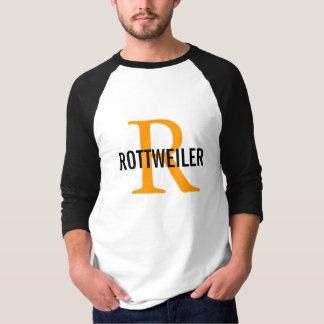 Rottweiler Breed Monogram Design Shirt