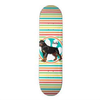 Rottweiler; Bright Rainbow Stripes Skateboard