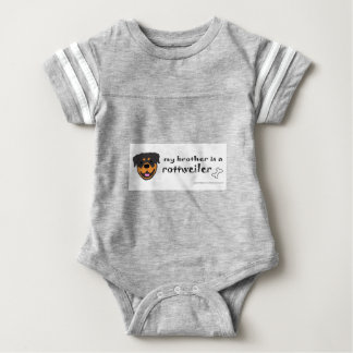 rottweiler brother baby bodysuit