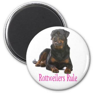 Rottweiler Brown & Black Puppy Dog Pink Love Magnet