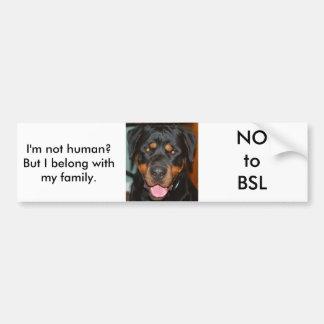 Rottweiler BSL Pegatina De Parachoque