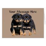 Rottweiler Buddies Greeting Card