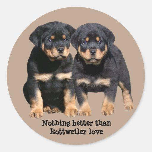 Rottweiler Buddies Sticker