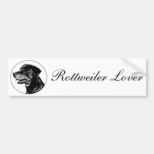 Rottweiler bumpersticker bumper sticker