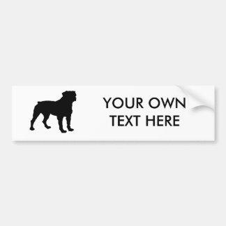 Rottweiler Etiqueta De Parachoque