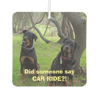 Rottweiler Car Ride Air Freshener