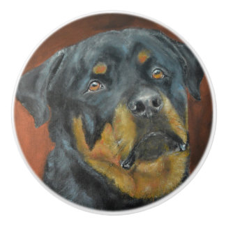 Rottweiler Ceramic Knob
