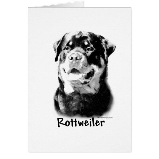 Rottweiler Charcoal Card