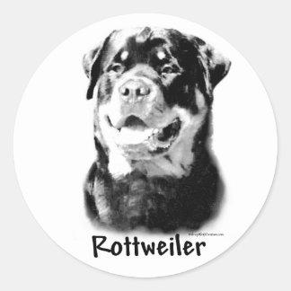 Rottweiler Charcoal Sticker