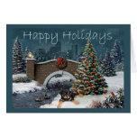Rottweiler Christmas Card Evening
