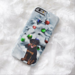 Rottweiler Christmas Barely There iPhone 6 Case