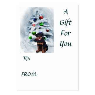 Rottweiler Christmas Gifts Business Cards
