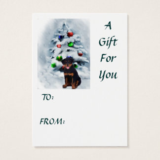 Rottweiler Christmas Gifts Business Card