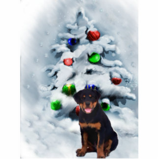 Rottweiler Christmas Gifts Statuette