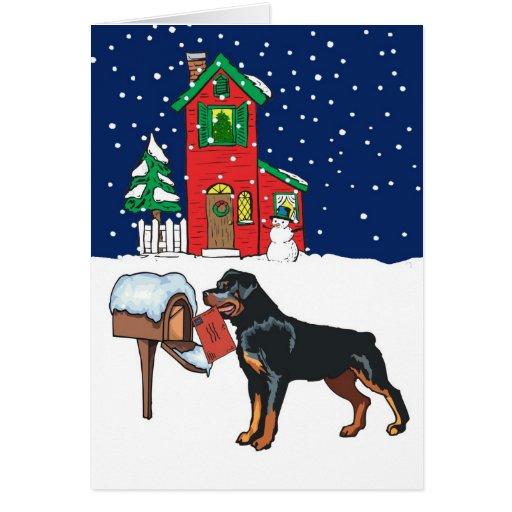 Zazzle Rottweiler Christmas Mail Card