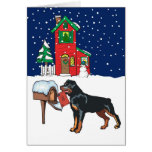 Rottweiler Christmas Mail Cards