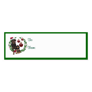 Rottweiler Christmas Wishes Gift Tags Mini Business Card