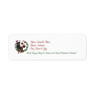 Rottweiler Christmas Wishes Return Address Labels
