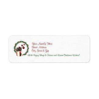Rottweiler Christmas Wishes Return Address Labels2 Label