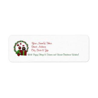 Rottweiler Christmas Wishes Return Address Labels3 Label