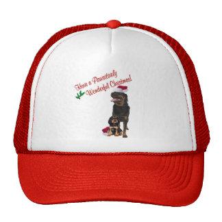 Rottweiler Christmas Wishes Trucker Hat
