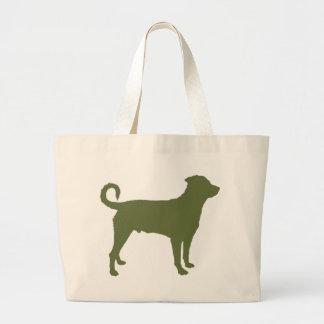 Rottweiler (cola descolada) bolsa tela grande