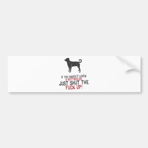 Rottweiler (cola descolada) etiqueta de parachoque