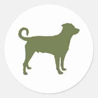 Rottweiler cola descolada etiquetas redondas