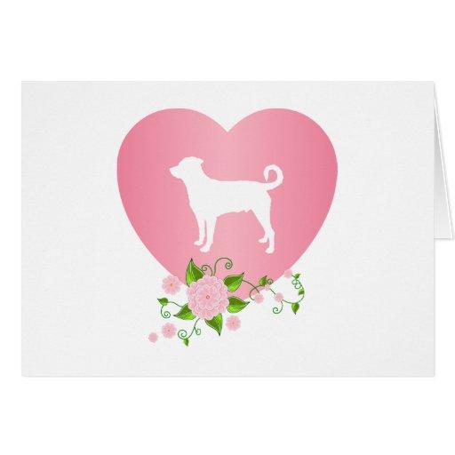 Rottweiler (cola descolada) tarjeta de felicitación