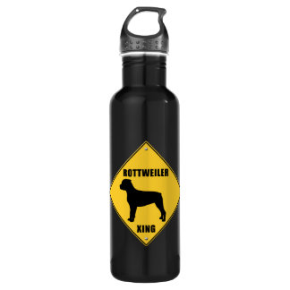 Rottweiler Crossing (XING) Sign 24oz Water Bottle