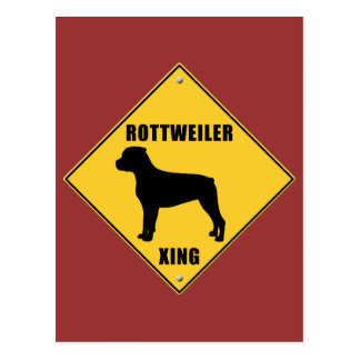 Rottweiler Crossing (XING) Sign Postcard