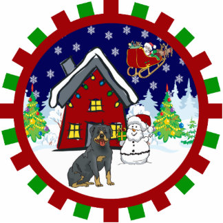 rottweiler cute country cottage ornament