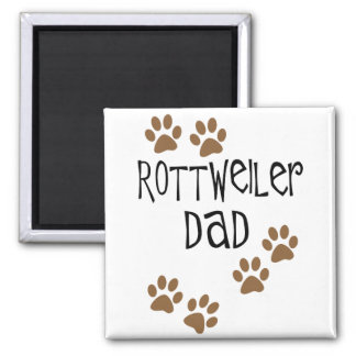 Rottweiler Dad 2 Inch Square Magnet